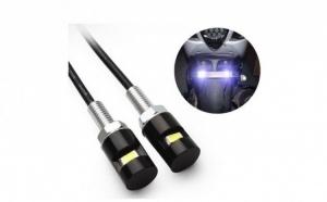 Set 2 mini-lampi LED, pentru numarul de la motocicleta sau scuter