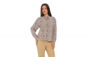 Bluza cu Guler Tunica Animal Print