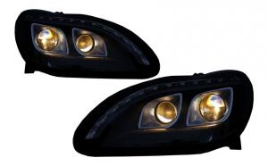 Set 2 faruri LED DRL compatibil cu Mercedes Benz W220 S Class 1998-2005 Negru