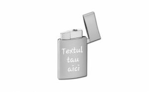 Bricheta metalica gravata personalizata cu textul tau
