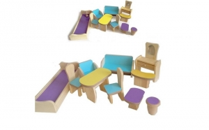 Set mobiler lemn