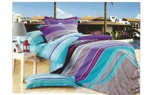 Lenjerie pat 2 persoane din Bumbac 100% - multicolor 2516 (4 piese) la doar 159 RON