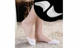 Set 4 protectii pentru degete picior, alb