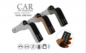 Modulator FM 8 in 1 cu bluetooth, telecomanda, slot microSD, USB, conectare le telefon prin bluetooth. Garantie 12 luni