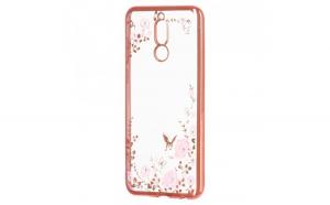 Husa Stylish Bloomy TPU Gel Flower Huawei Mate 10 Lite pink