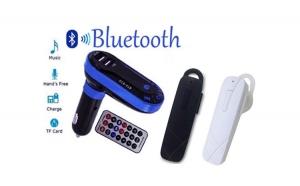 Casca Bluetooth in-ear boost + Modulator auto bluetooth