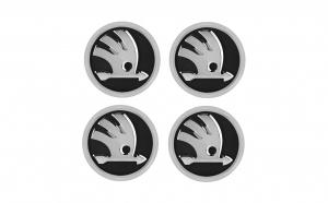 Set 4 capace jante cu sigla Skoda, 56mm