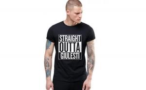 Tricou negru barbati - Straight Outta Giulesti