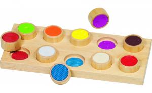 Joc Montessori memorie si simt tactil