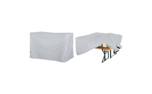 Husa Prelata protectie set mobilier bere cu spatar Gri argintiu 180 x 135 x 82 cm