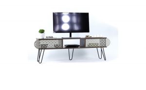 Comoda TV, 151 x 48 x 30 cm, PAL/metal,