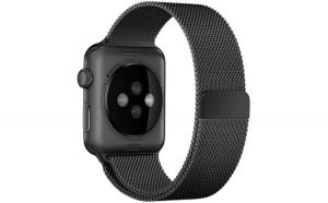 Curea Apple Watch, Milanese Loop, Compatibila cu Apple Watch 1/2/3/4, 40mm, Negru