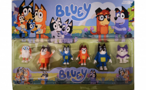 Set 6 figurine Bluey si Bingo