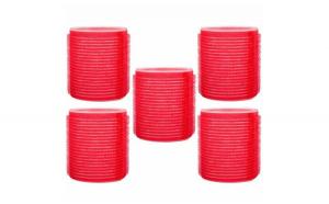 Set 5 bigudiuri, rosii, usor de aplicat, 5 cm