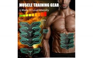 Eletrostimulator EMS 8 PADS Strong Fitness cu 3 piese abdomen,brate,picioare pentru cresterea musculaturii - Ca o bucata de otel!