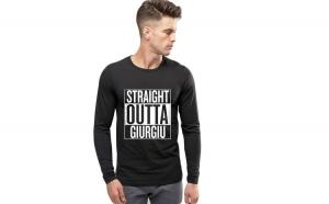 Bluza barbati neagra - Straight Outta Giurgiu