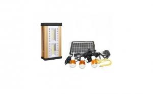 Kit proiector cu Incarcare Solara, 2 led COB, 24 LED SMD si 3 becuri LED