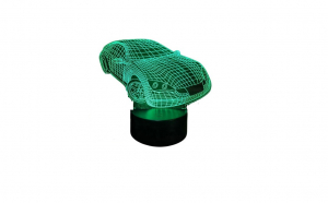 Lampa de veghe in forma de masina 3D