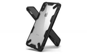 Husa Ringke Fusion X Durabil PC cu TPU Bumper pentru iPhone XS Max black (FUAP0006 RPKG)