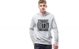 Hanorac Barbati Gri - Straight Outta Timisoara