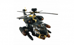 Elicopter negru 25 cm cu lumini si sunet