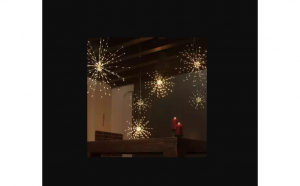 Instalatie cu artificii 3m,alb cald 500 led