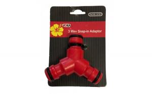 Adaptor furtun plastic 3 cai