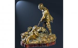 Statueta din bronz, autor: Gustav Adolph