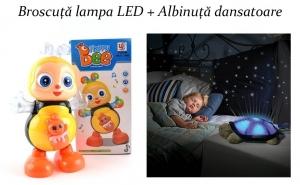 Albinuta Dansatoare Jucarie + Broscuta Testoasa LED