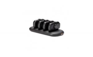 Statie de incarcare cu baterie externa, portabila, 4 mini baterii, negru