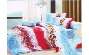 Lenjerie pat 2 persoane din Bumbac 100% - multicolor 1933 (4 piese) la doar 159 RON