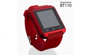 Ceas Inteligent Smartwatch BT110 Rosu cu Audio. Va permite sa raspundeti la apelurile telefonice, sa ascultati muzica, sa primiti notificari de pe retele sociale, mesaje SMS, e-mailuri, mesaje WhatsApp