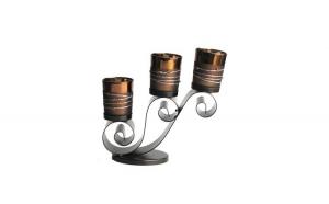 Sfesnic din metal cu 3 candela din