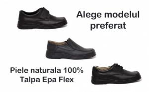 Pantofi pe talpa Epa, din piele naturala 100%, cu elastic, scai sau siret. Alege modelul si noi ti-l confectionam Confortabili, flexibili si usori, pentru sanatatea picioarelor tale!