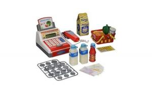 Casa de marcat cu sunete My Funny jucarie pentru copii cu accesorii si cos de cumparaturi, scanner, supermarket