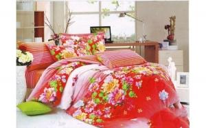Lenjerie pat 2 persoane din Bumbac 100% - multicolor 1924 (4 piese) la doar 159 RON