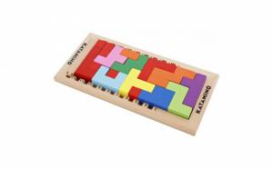 Puzzle lemn 3D Tetris Katamino