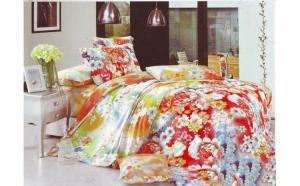 Lenjerie pat 2 persoane din Bumbac 100% - multicolor 1923 (4 piese ) la doar 159 RON