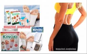 Pantaloni pentru slabit plus cadou o cutie cu 20 plasturi pentru detoxifiere Kinoki