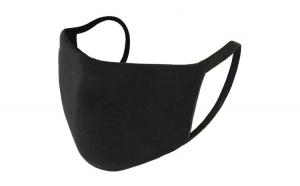 Masca protectie, 2 straturi, reutilizabila, cu posibilitatea de a adauga filtru, negru