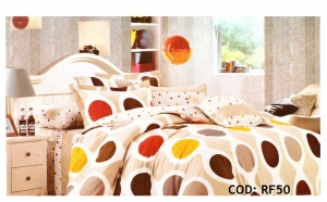 Set lenjerie de pat pentru 2 persoane, 6 piese, din bumbac si microfibre, diverse modele, 109 RON in loc de 219 RON