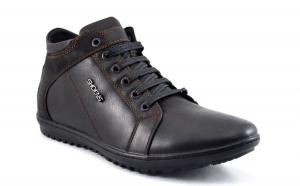 Pantofi Sport Barbatesti negri piele Inalti ShoeNS