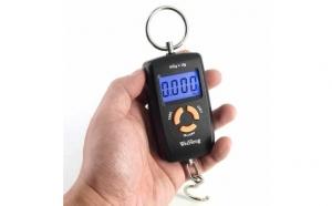 Cantar electronic portabil, dubla precizie, 45 kg