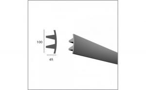 Profil pentru banda LED din poliuretan flexibil KF503F (2.44m)