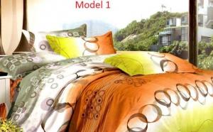 Eleganta si Stil: Set Lenjerie Dubla de Pat model Fashion Casa , model creponat , la numai 95 RON in loc de 270 RON