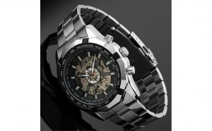 Ceas barbatesc Automatic Winner Silver Business