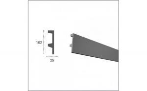 Profil pentru banda LED din poliuretan KF504 (2.44m)