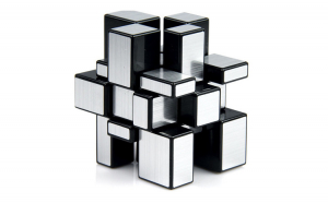 Cub Rubik Mirror 3x3x3  Moyu silver