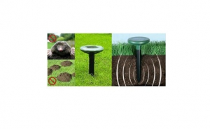 Dispozitiv - alarma sonica pentru alungat rozatoarele,cartitele etc, cu alimentare solara, la 99 RON in loc de 189 RON