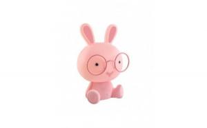 Lampa de veghe pentru copii, iepure, roz, lumina calda, Gonga